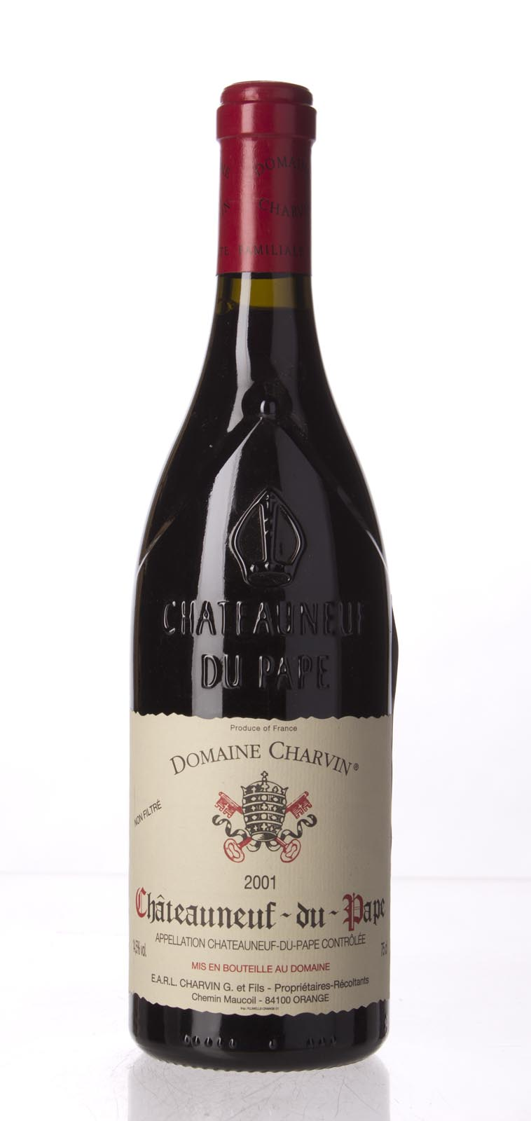 Domaine Gerard Charvin Chateauneuf du Pape 2001, 750mL (WA95, ST94, WS96) from The BPW - Merchants of rare and fine wines.