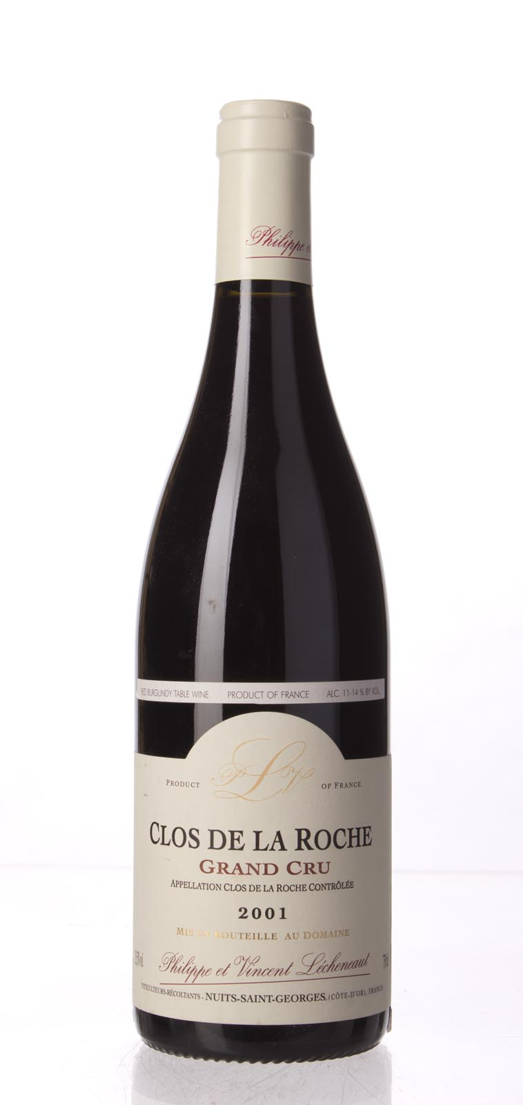 Domaine Lecheneaut Clos de la Roche 2001, 750mL (WA91-93) from The BPW - Merchants of rare and fine wines.