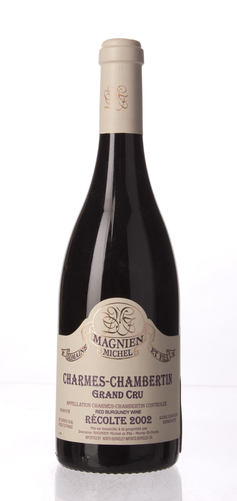 Domaine Michel Magnien Charmes Chambertin 2002, 750mL (WA93-94) from The BPW - Merchants of rare and fine wines.