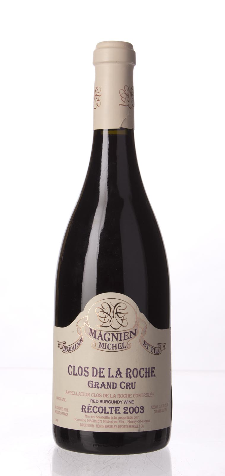 Domaine Michel Magnien Clos de la Roche 2003, 750mL (WA96) from The BPW - Merchants of rare and fine wines.