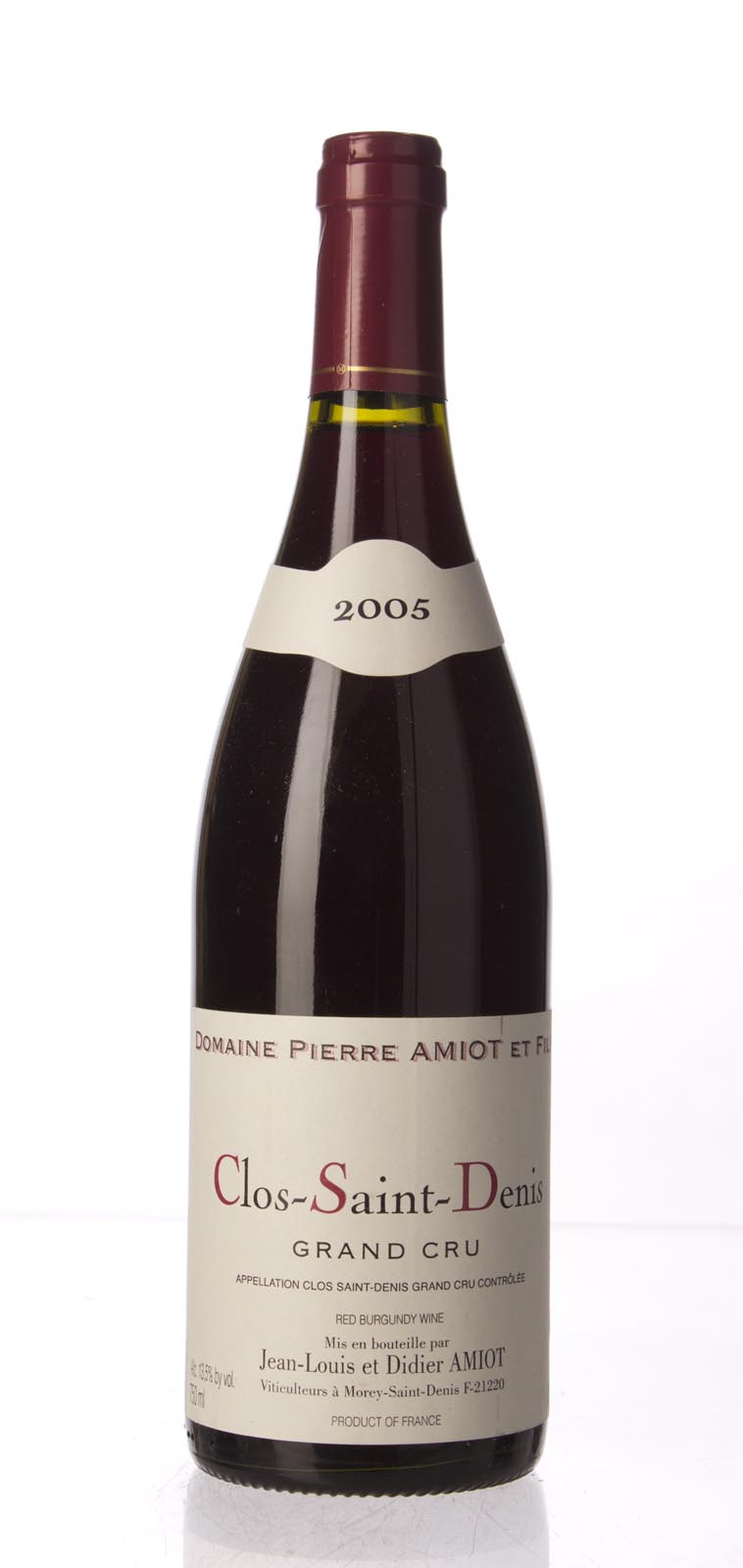 Domaine Pierre Amiot Clos St. Denis 2005, 750mL (BH93) from The BPW - Merchants of rare and fine wines.