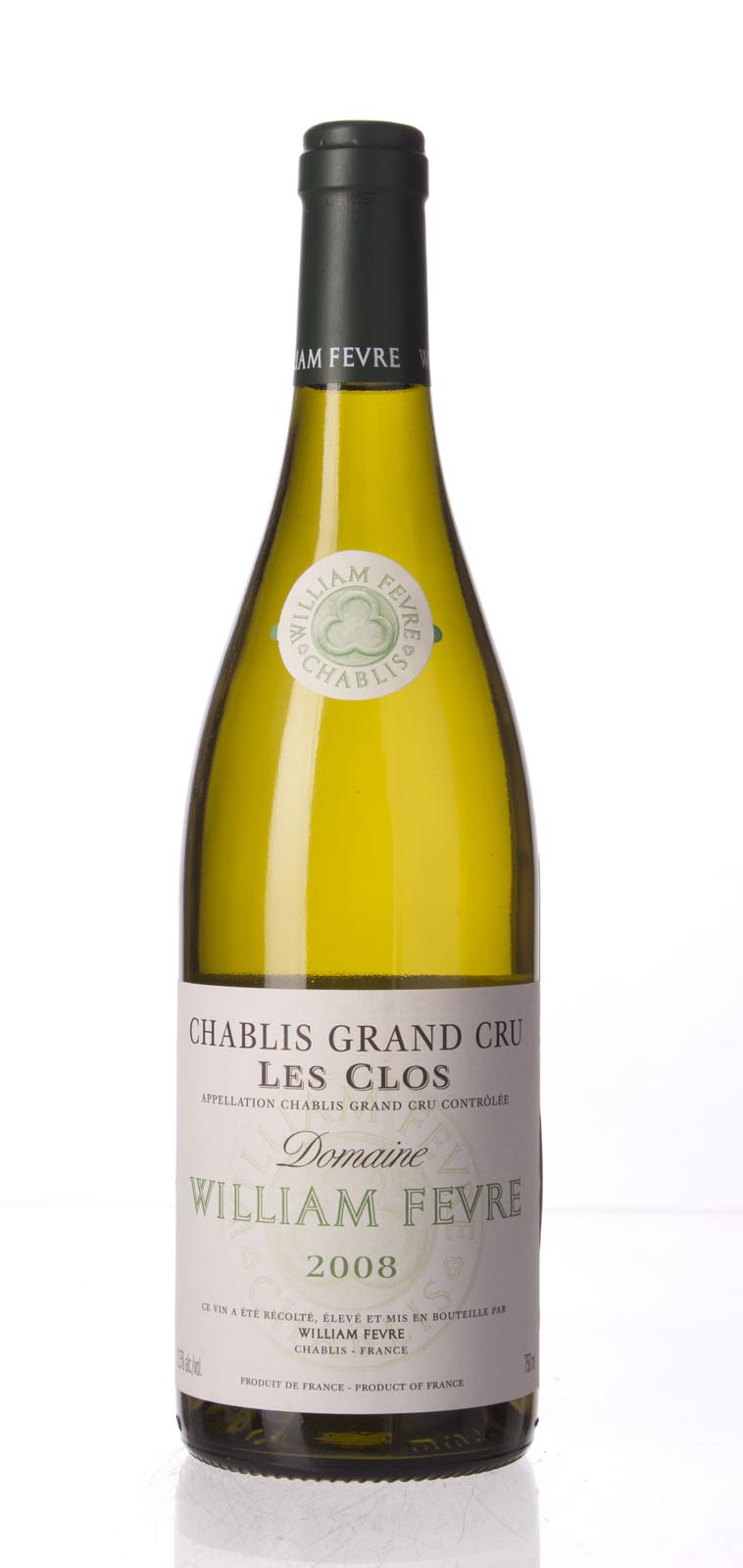 Domaine William Fevre Chablis les Clos 2008, 750mL (BH96, WA96, ST95+) from The BPW - Merchants of rare and fine wines.