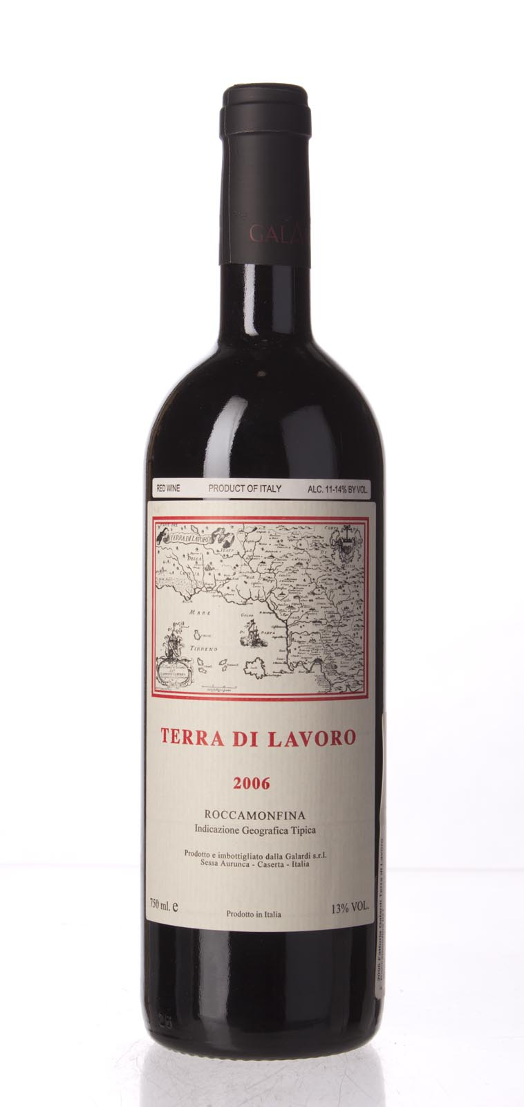 Fattoria Galardi Terra di Lavoro 2006, 750mL (WA97) from The BPW - Merchants of rare and fine wines.