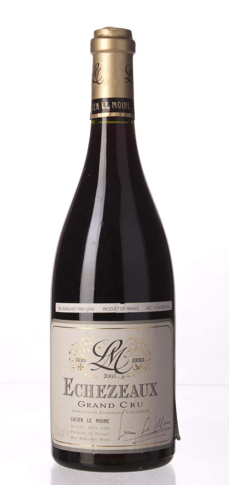 Lucien le Moine Echezeaux 2003, 750mL (WA94) from The BPW - Merchants of rare and fine wines.