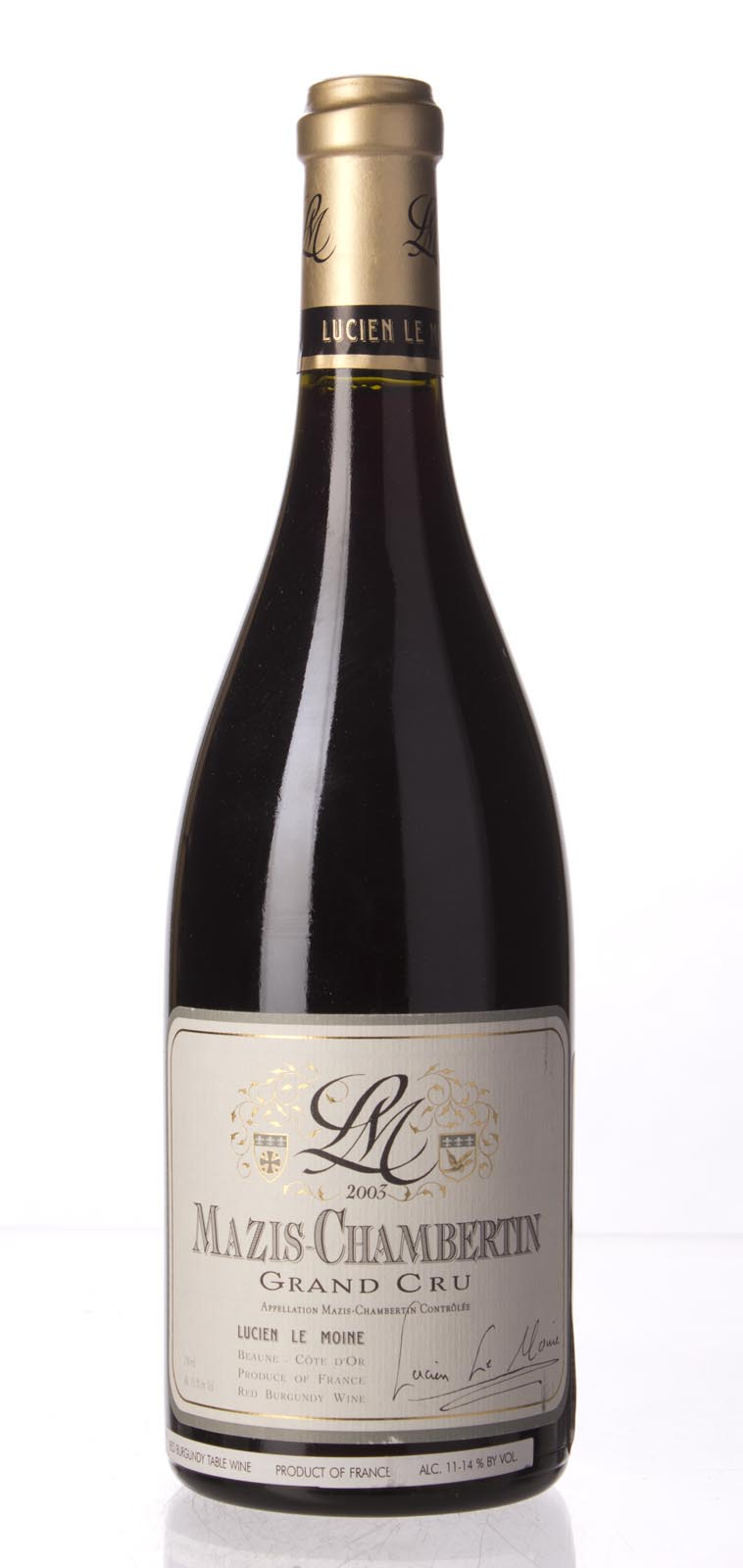 Lucien le Moine Mazis Chambertin 2003, 750mL (WA95) from The BPW - Merchants of rare and fine wines.