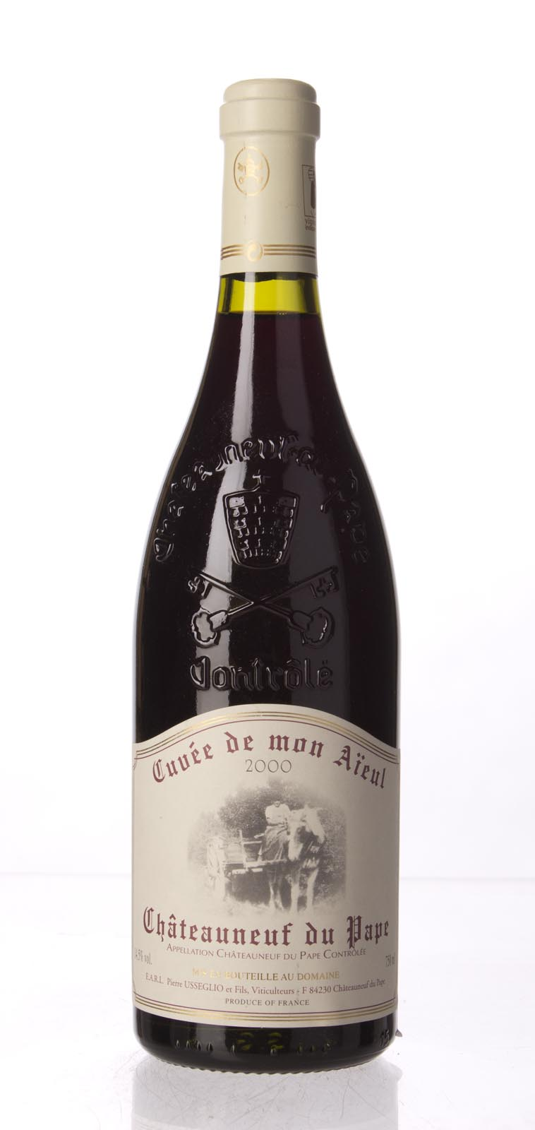 Pierre Usseglio Chateauneuf du Pape Cuvee de Mon Aieul 2000, 750mL (WA95) from The BPW - Merchants of rare and fine wines.