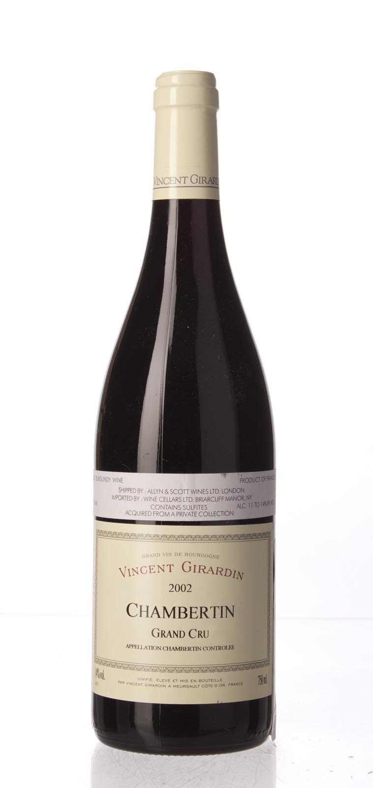 Vincent Girardin Chambertin 2002, 750mL (WA92-94, ST92-94) from The BPW - Merchants of rare and fine wines.
