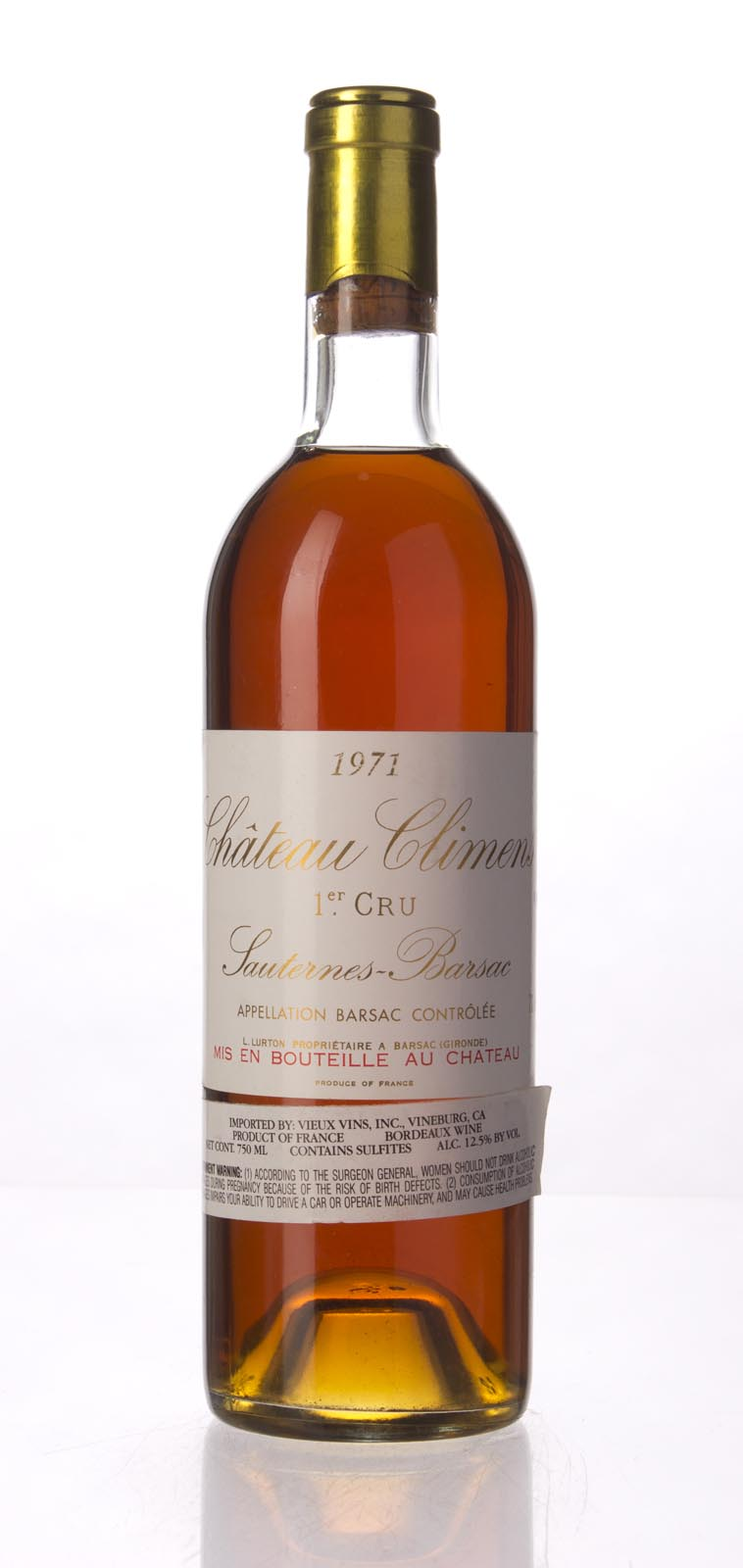Climens 1971, 750mL (WA94) from The BPW - Merchants of rare and fine wines.