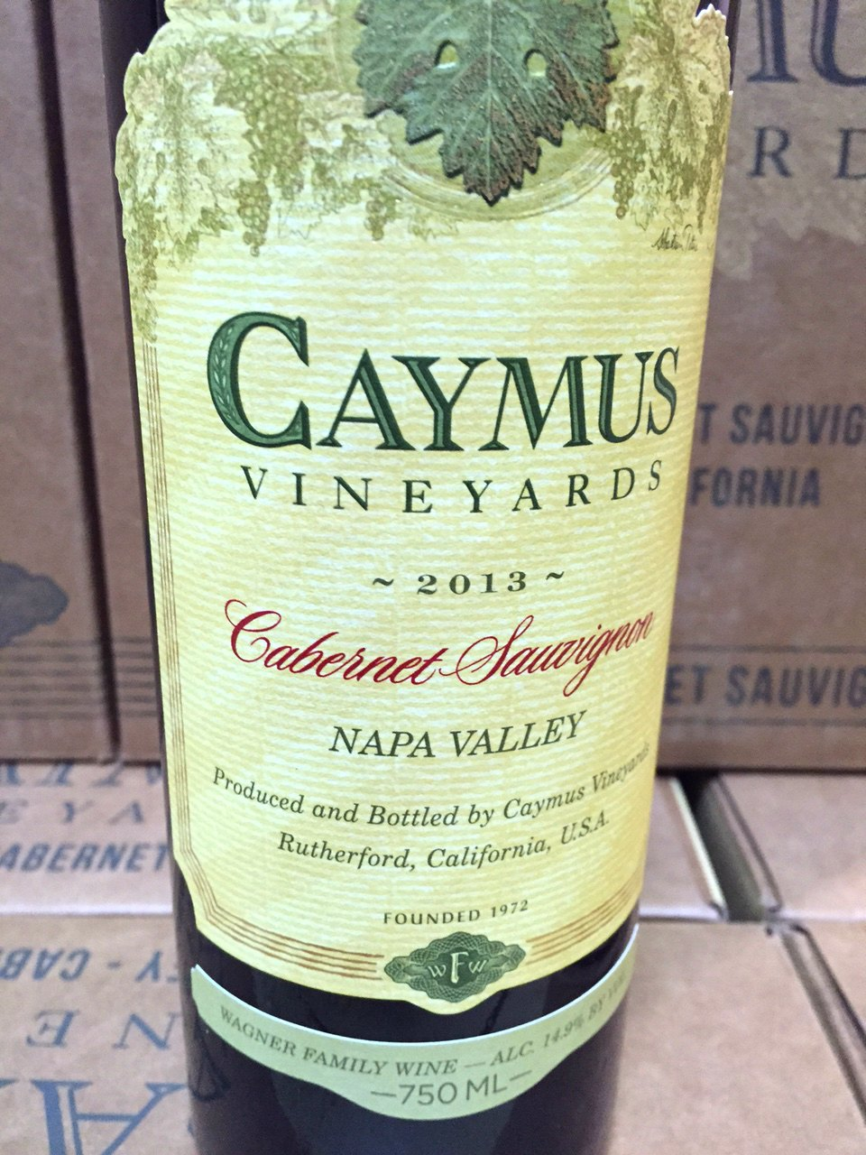 Caymus Cabernet Sauvignon Napa Valley 2013,  () from The BPW - Merchants of rare and fine wines.