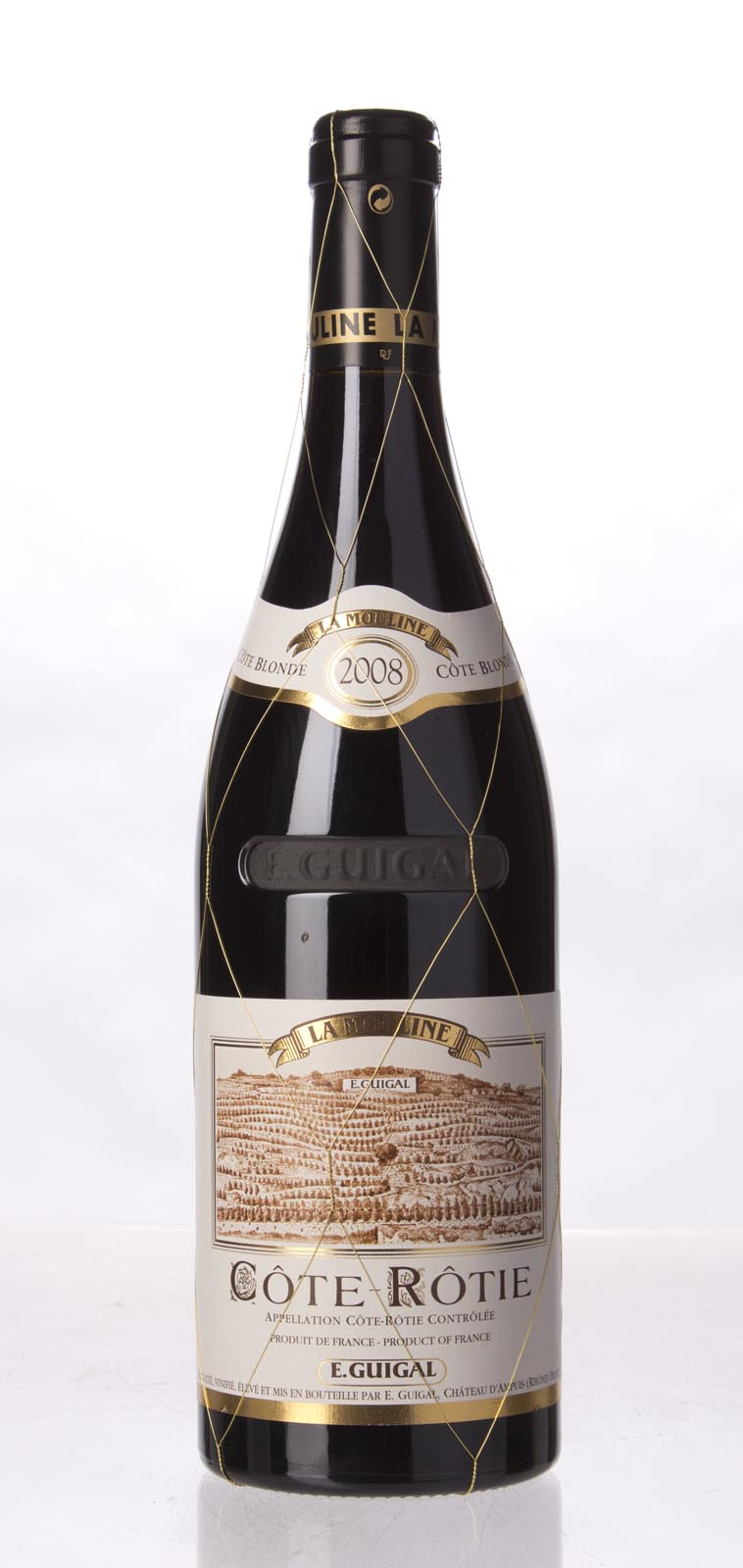 Guigal Cote Rotie la Mouline 2008, 750mL (ST94, WS93) from The BPW - Merchants of rare and fine wines.