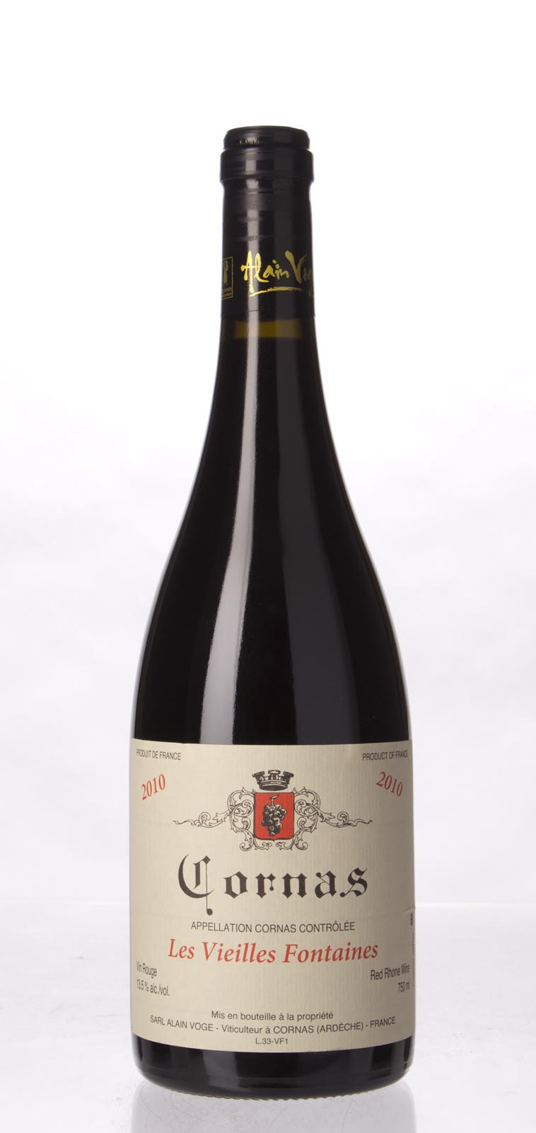 Alain Voge Cornas Vieilles Fontaines 2010, 750mL (WA100) from The BPW - Merchants of rare and fine wines.