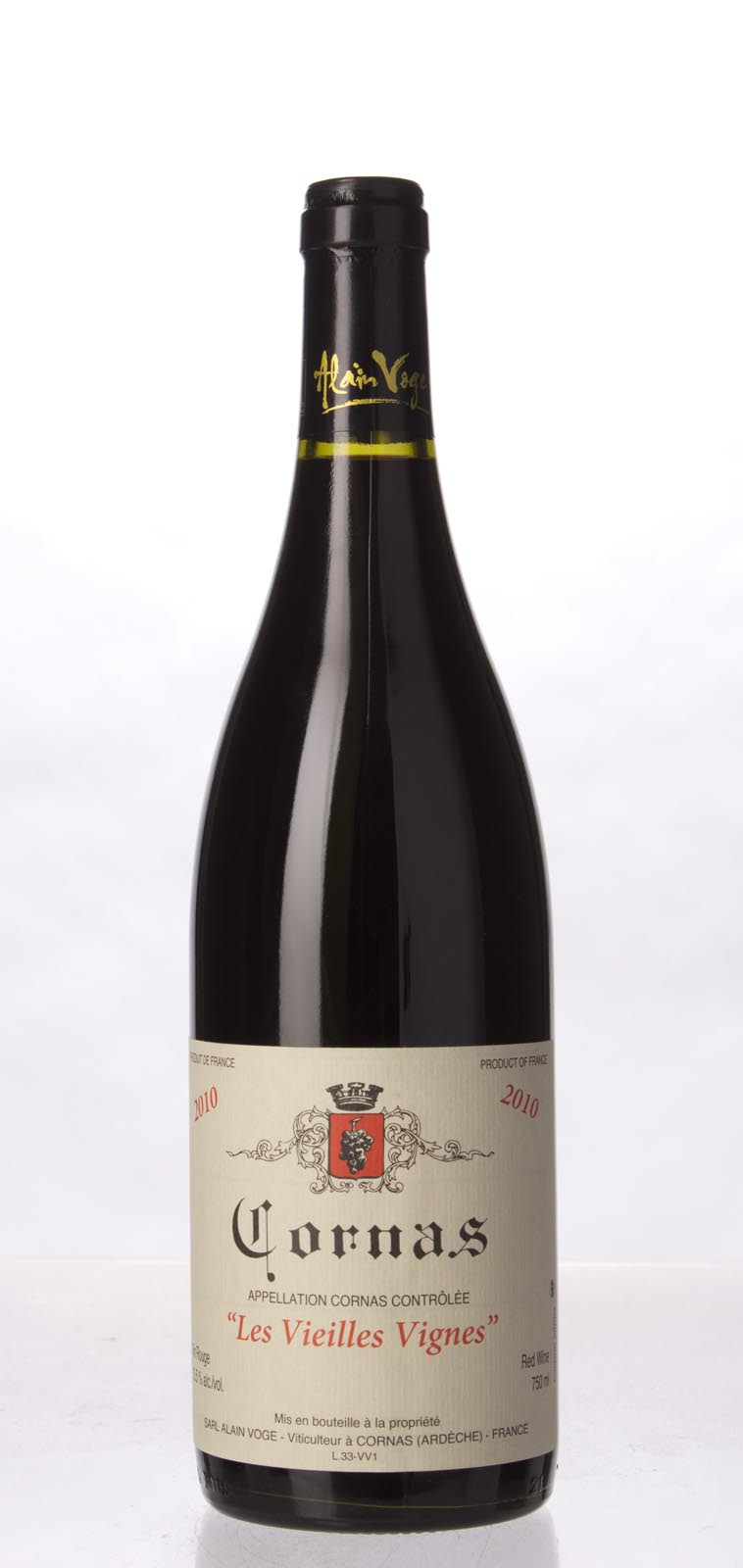 Alain Voge Cornas Vieilles Vignes 2010,  (WA99) from The BPW - Merchants of rare and fine wines.
