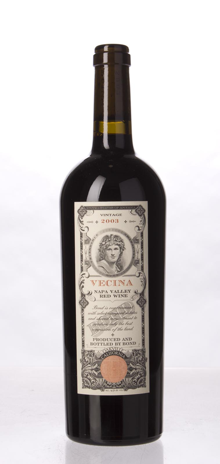Bond Vecina 2003, 750mL (WA96+) from The BPW - Merchants of rare and fine wines.
