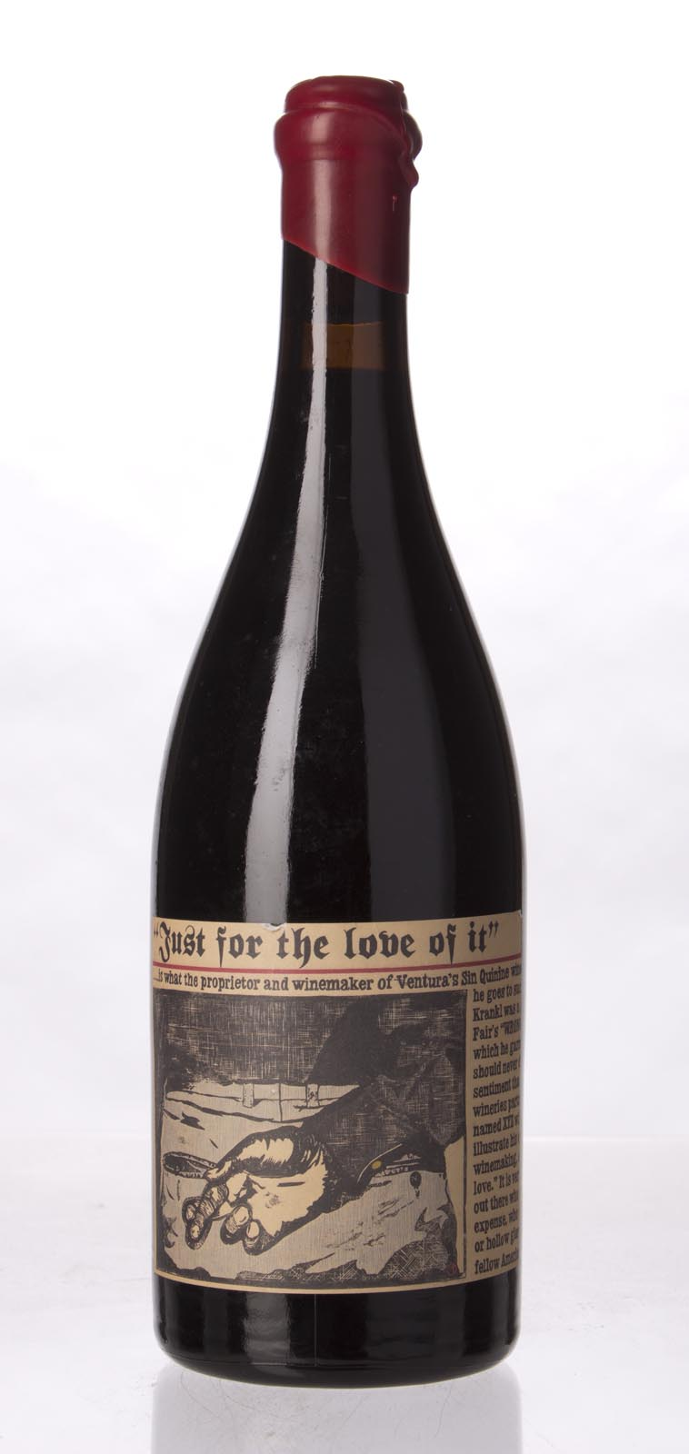 Sine Qua Non Syrah Just For The Love Of It 2002, 750mL (WA100) from The BPW - Merchants of rare and fine wines.