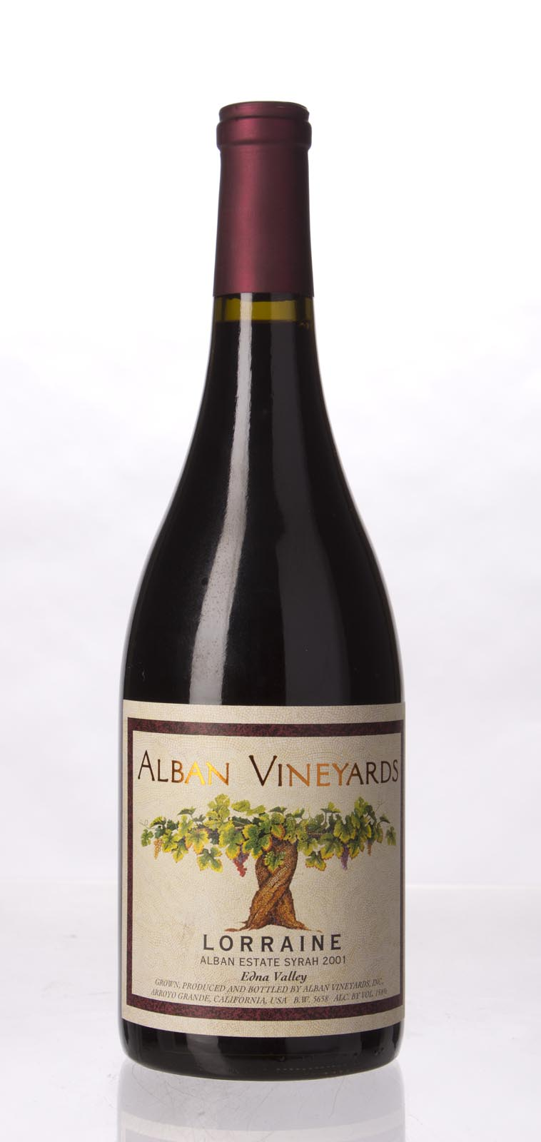 Alban Vineyards Syrah Lorraine Estate 2001, 750mL (WA94, ST93, WS93) from The BPW - Merchants of rare and fine wines.