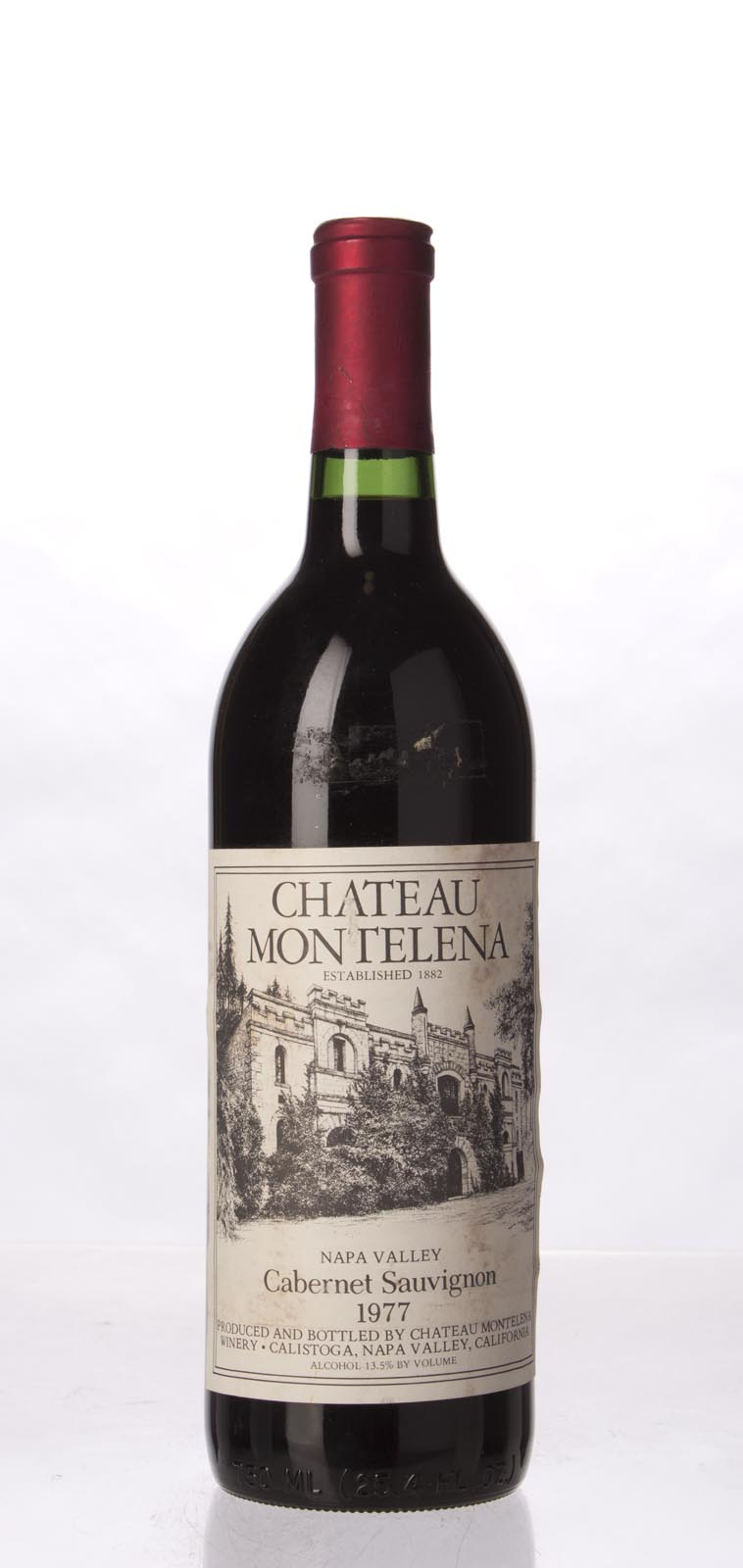 Chateau Montelena Cabernet Sauvignon Montelena Estate 1977, 750mL (WA92) from The BPW - Merchants of rare and fine wines.