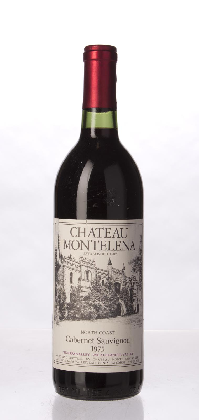 Chateau Montelena Cabernet Sauvignon North Coast 1975, 750mL () from The BPW - Merchants of rare and fine wines.