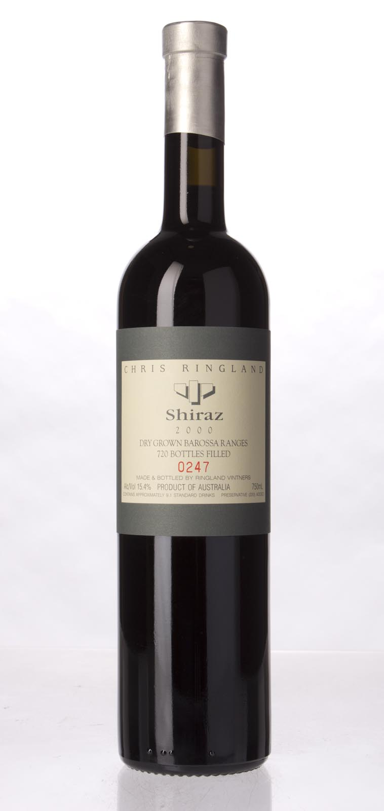 Chris Ringland Shiraz Barossa Valley 2000,  (WA97) from The BPW - Merchants of rare and fine wines.