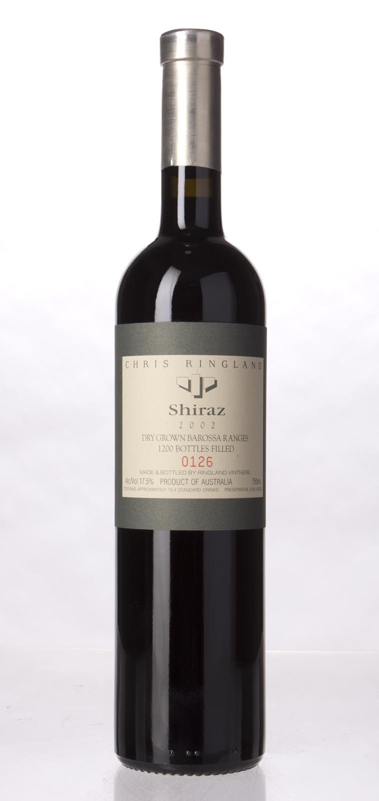 Chris Ringland Shiraz Barossa Valley 2002, 750mL (WA100) from The BPW - Merchants of rare and fine wines.