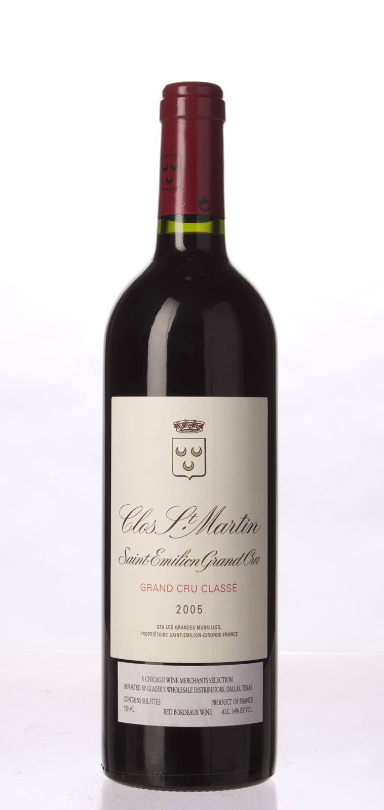 Clos St. Martin 2005, 750mL (WA98) from The BPW - Merchants of rare and fine wines.