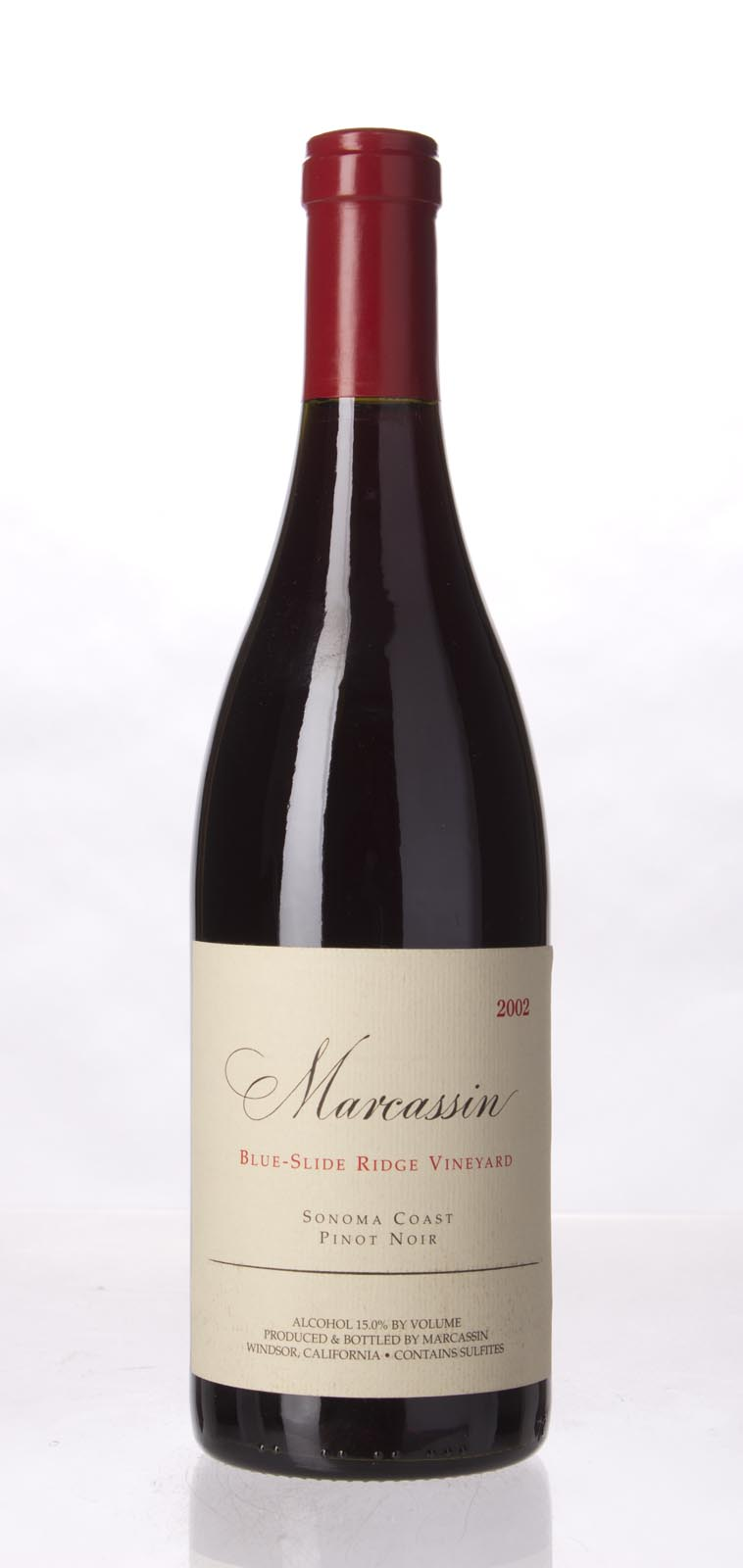 Marcassin Pinot Noir Blue Slide Ridge 2002, 750mL (WA95, ST96, WS96) from The BPW - Merchants of rare and fine wines.