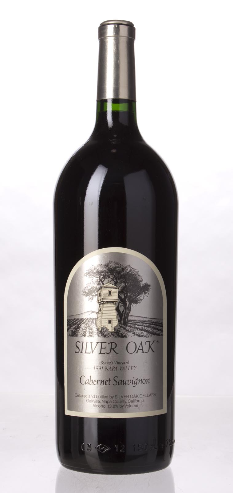 Silver Oak Cabernet Sauvignon Bonny`s Vineyard 1991, 1.5L (WS93) from The BPW - Merchants of rare and fine wines.