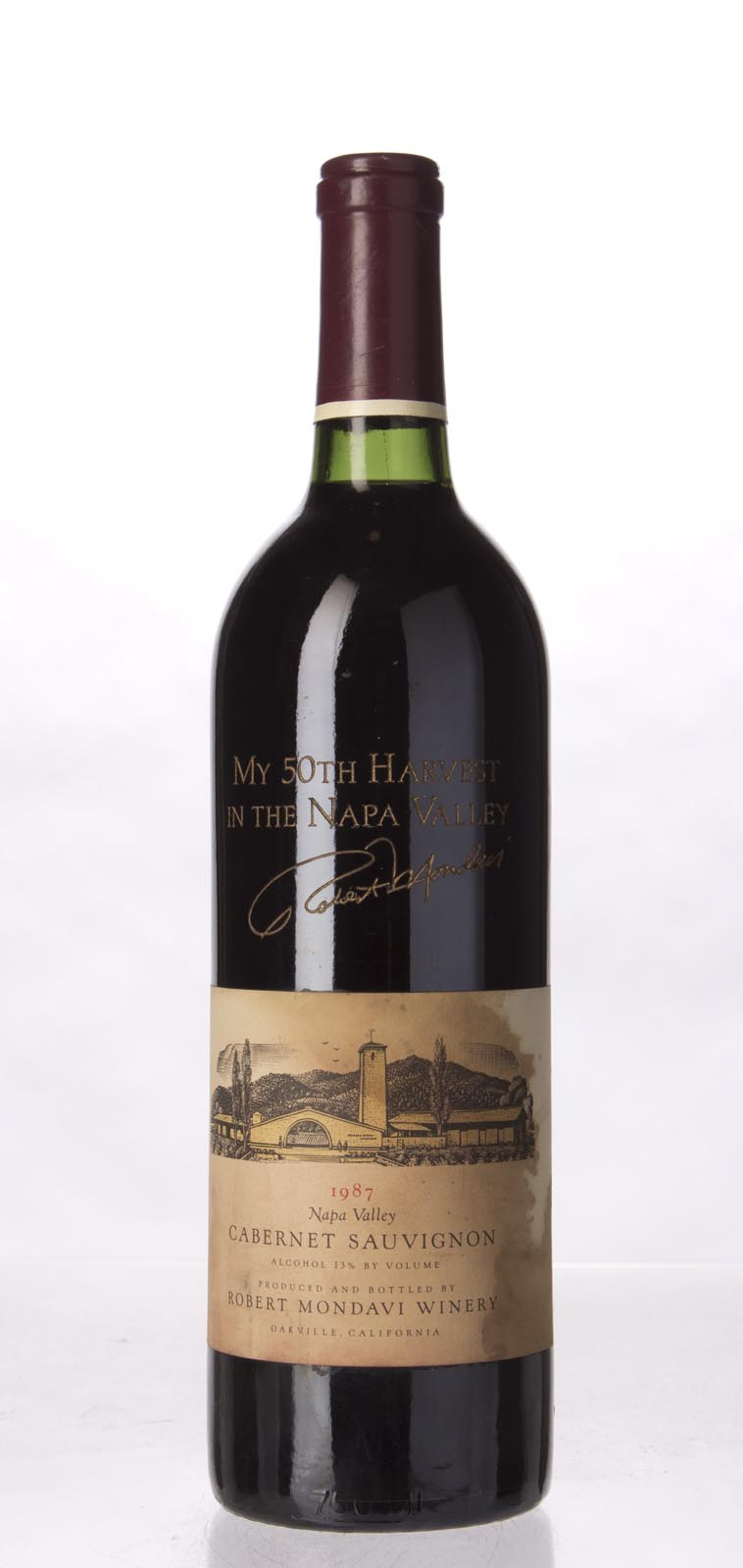 Robert Mondavi Cabernet Sauvignon Napa Valley 1987, 750mL () from The BPW - Merchants of rare and fine wines.