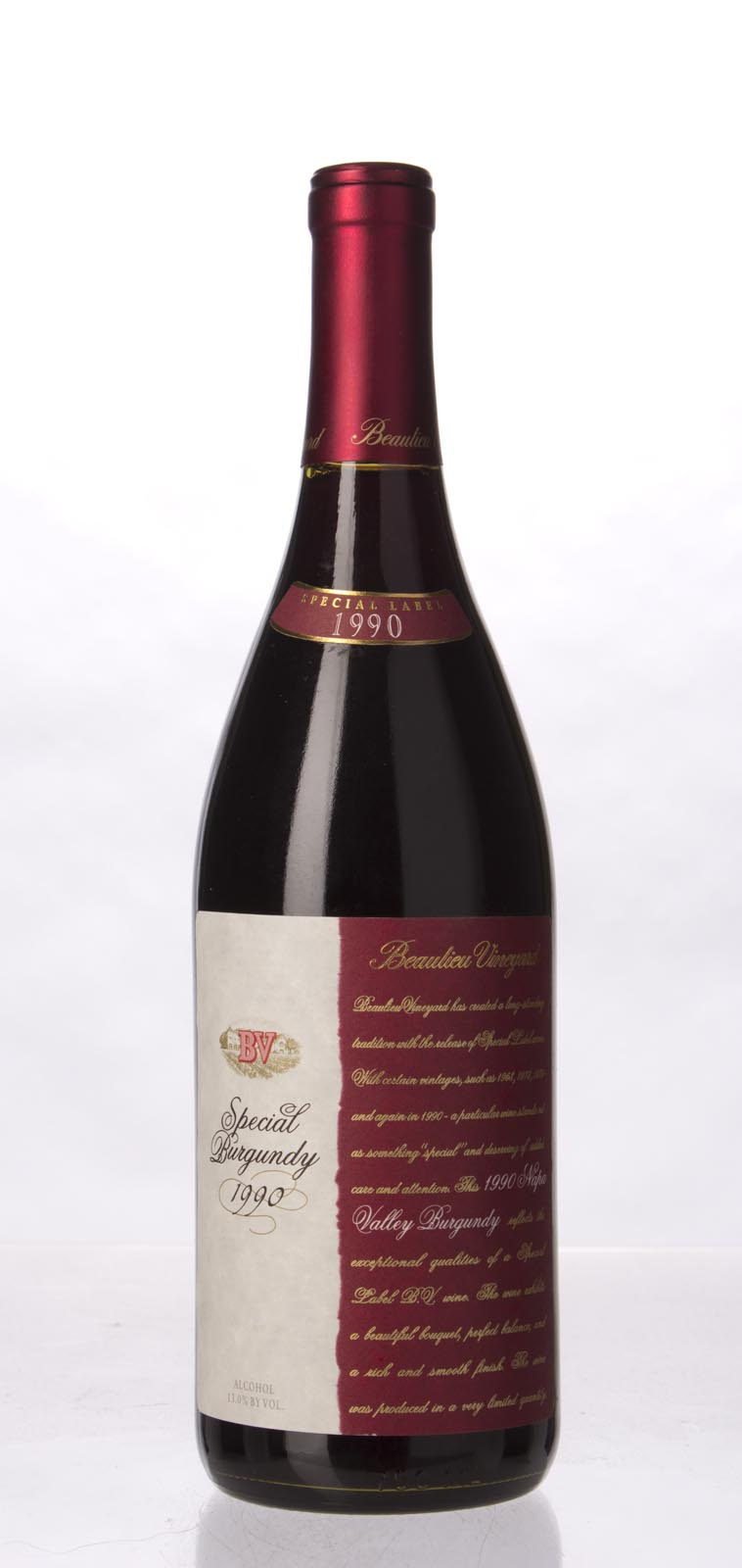 Beaulieu Vineyard Special Burgundy 1990, 750mL () from The BPW - Merchants of rare and fine wines.