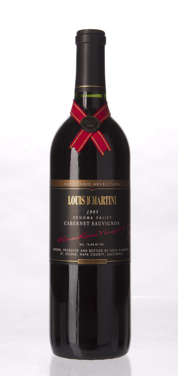 Louis Martini Cabernet Sauvignon Monte Rosso 1995, 750mL (WA93) from The BPW - Merchants of rare and fine wines.