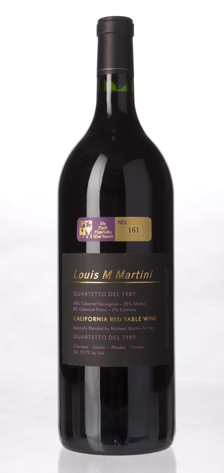 Louis Martini Proprietary Red Quartetto del 1987, 1.5L () from The BPW - Merchants of rare and fine wines.