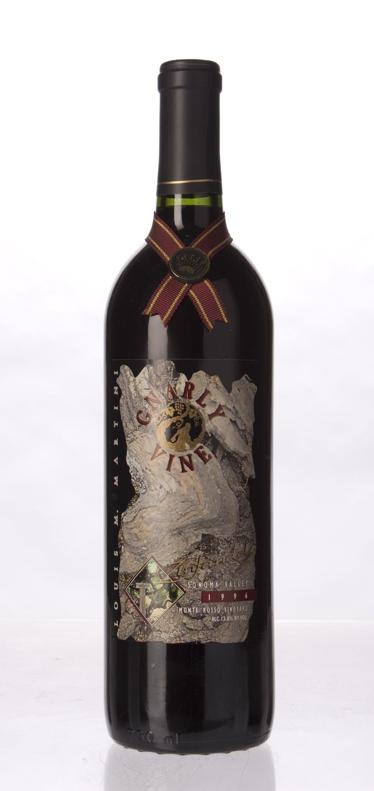 Louis Martini Zinfandel Gnarly Vine Monte Rosso 1996, 750ml () from The BPW - Merchants of rare and fine wines.