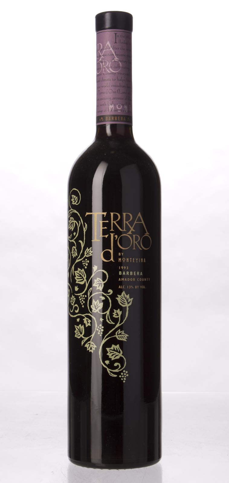 Montevina Barbera Terra d`Oro 1993, 750mL () from The BPW - Merchants of rare and fine wines.