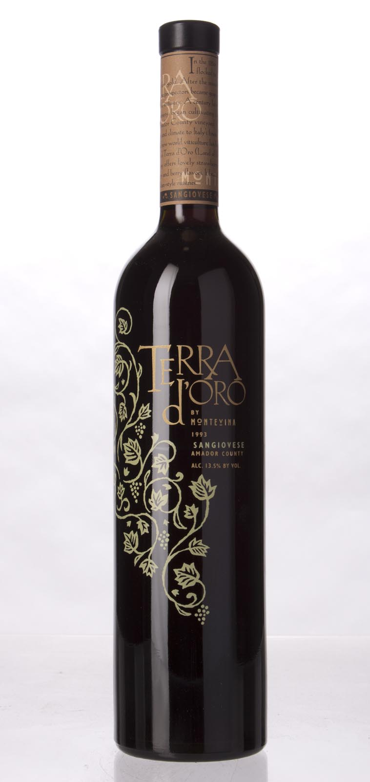 Montevina Sangiovese Terra d`Oro 1993, 750mL () from The BPW - Merchants of rare and fine wines.