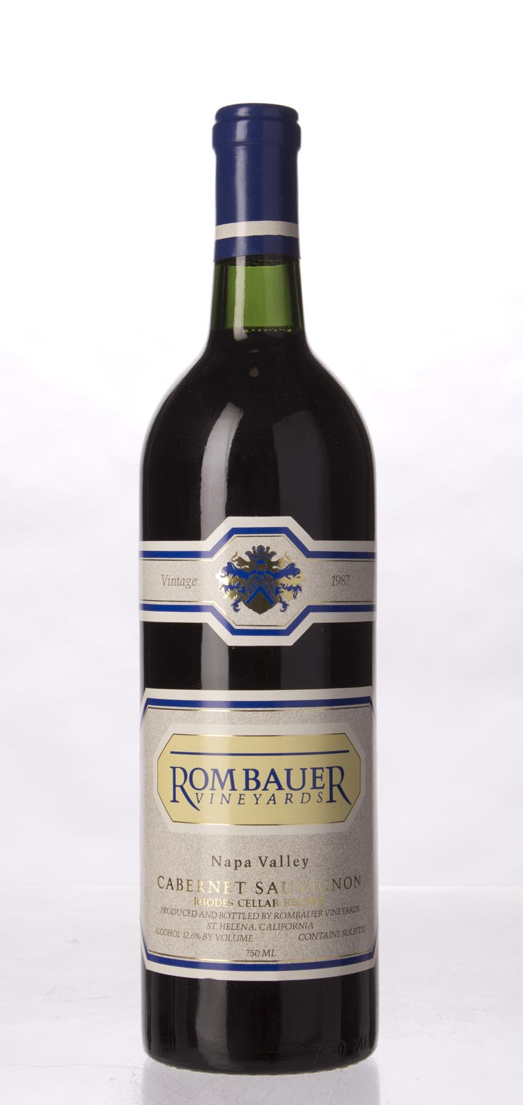 Rombauer Cabernet Sauvignon Rhodes Cellar Reserve 1987, 750mL () from The BPW - Merchants of rare and fine wines.