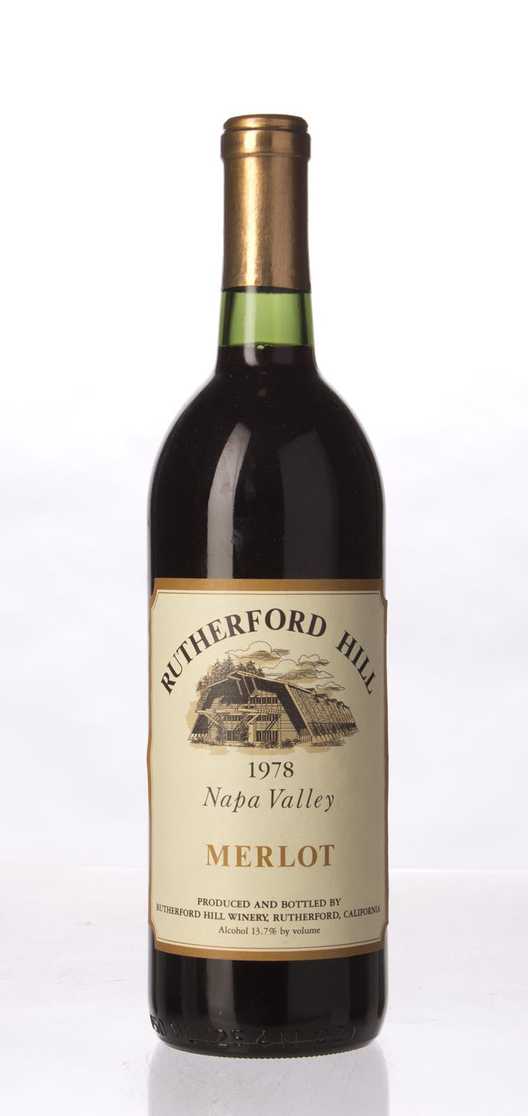 Rutherford Hill Merlot 1978, 750mL () from The BPW - Merchants of rare and fine wines.