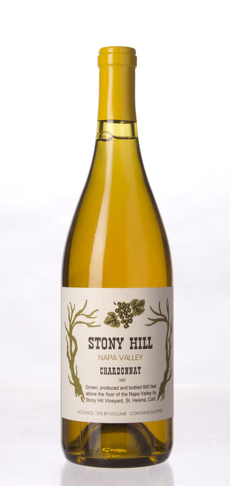 Stony Hill Vineyard Chardonnay Napa Valley 1989, 750mL () from The BPW - Merchants of rare and fine wines.