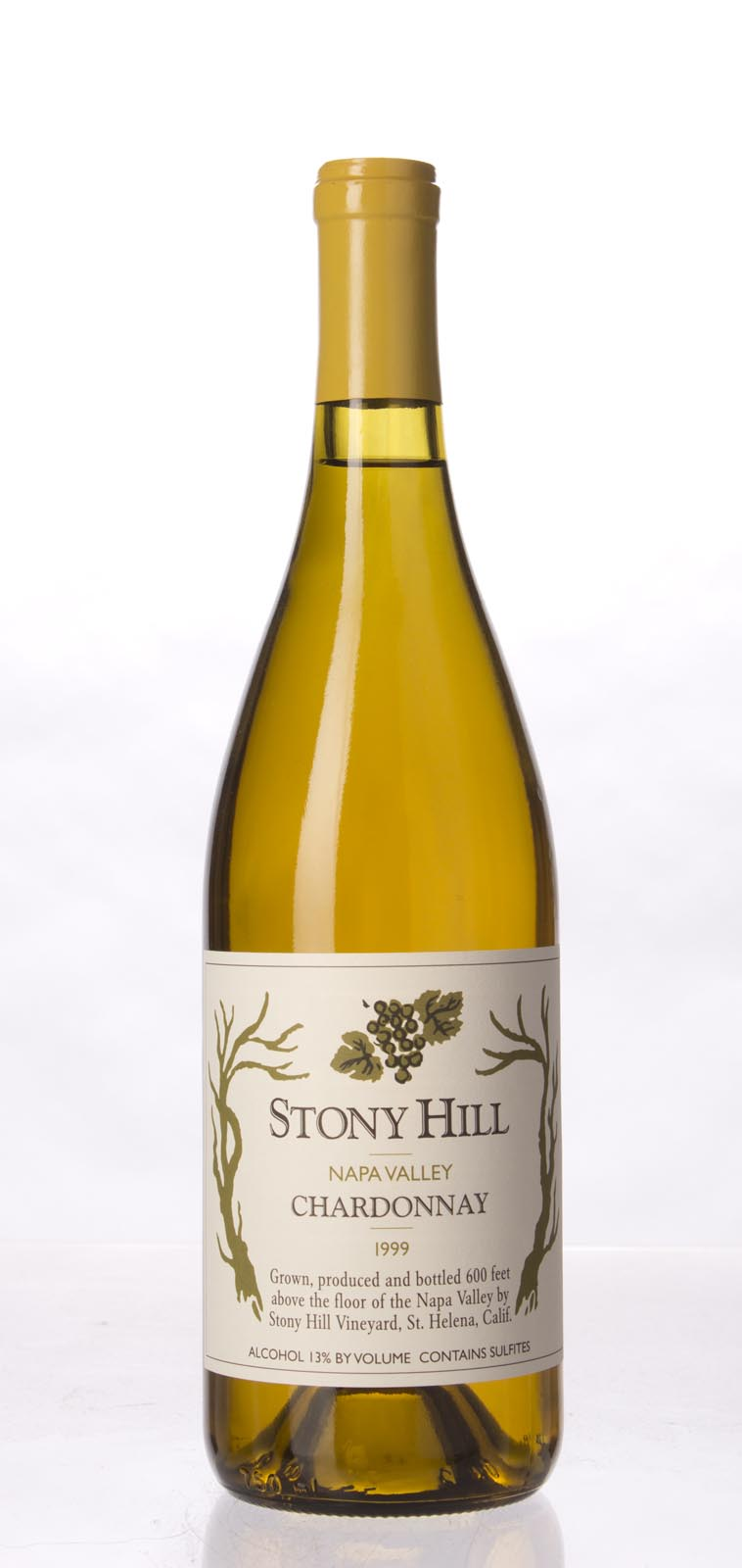 Stony Hill Vineyard Chardonnay Napa Valley 1999, 750mL (WA90) from The BPW - Merchants of rare and fine wines.