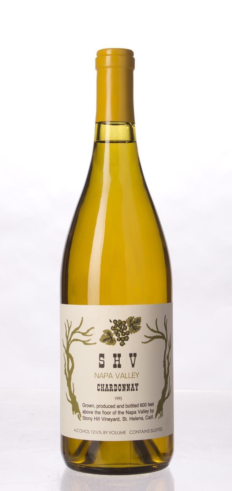 Stony Hill Vineyard Chardonnay SHV 1995, 750mL () from The BPW - Merchants of rare and fine wines.
