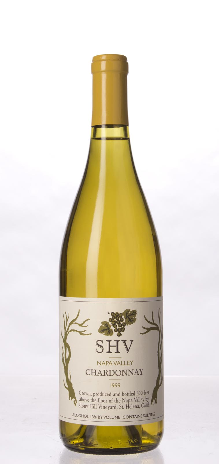 Stony Hill Vineyard Chardonnay SHV 1999, 750mL () from The BPW - Merchants of rare and fine wines.