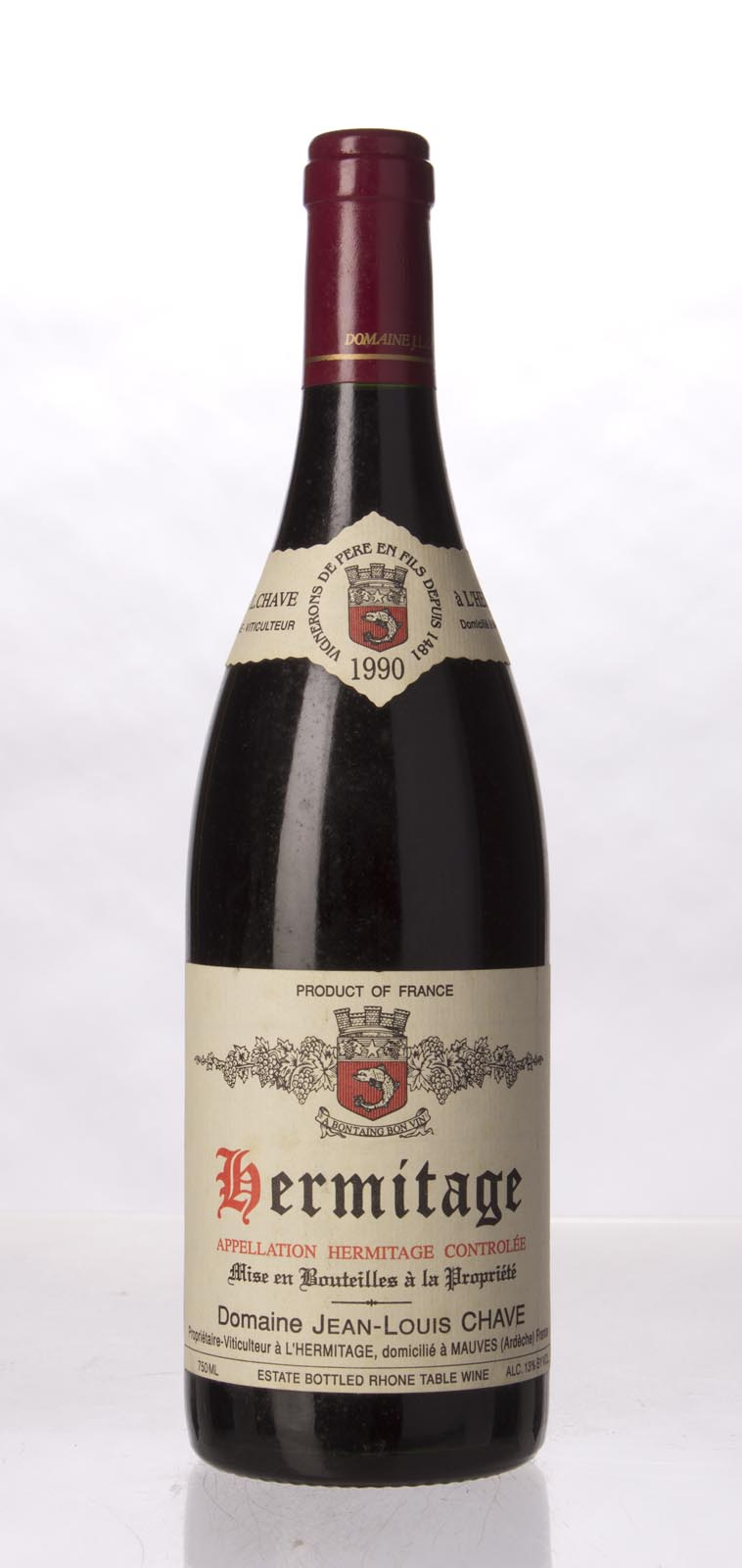 J.L. Chave Hermitage 1990, 750mL (WA99) from The BPW - Merchants of rare and fine wines.