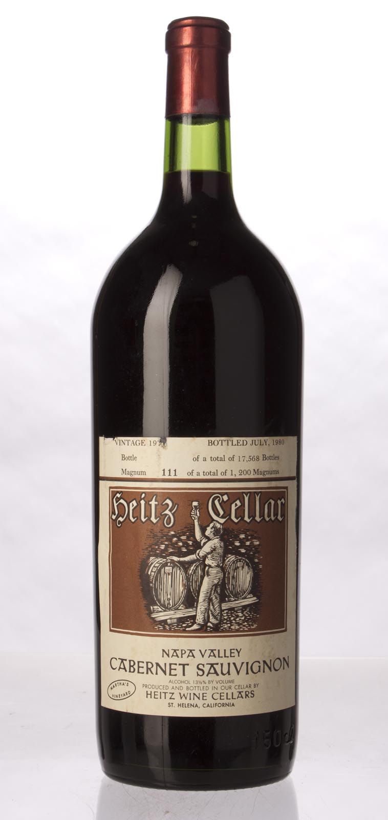 Heitz Cabernet Sauvignon Martha`s Vineyard 1976, 1.5L (WA92, WS94) from The BPW - Merchants of rare and fine wines.