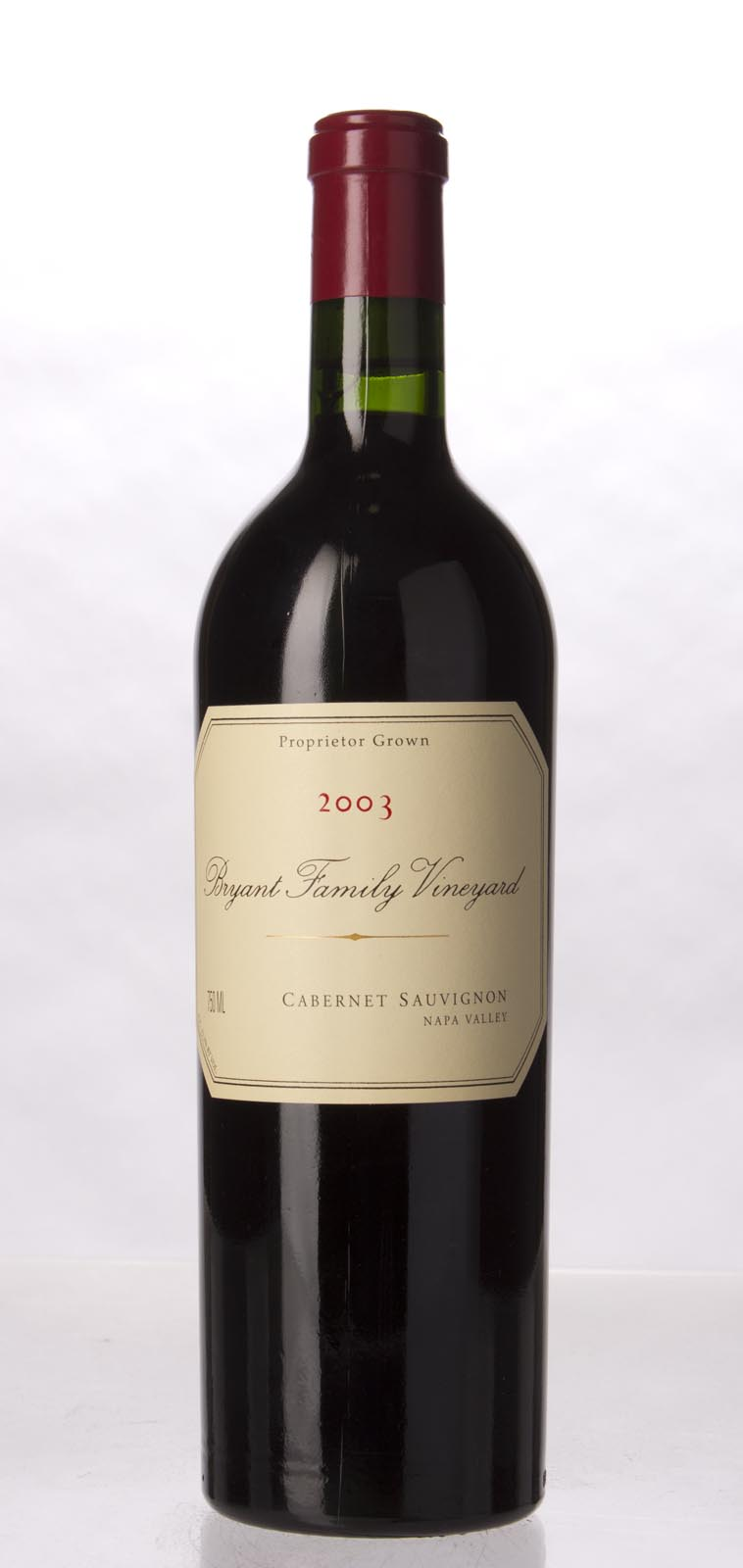 Bryant Family Vineyard Cabernet Sauvignon Pritchard Hill 2003, 750mL (WA96) from The BPW - Merchants of rare and fine wines.
