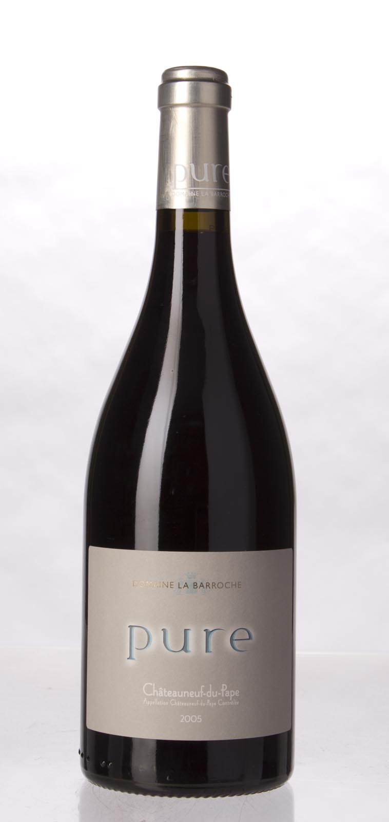 Domaine La Barroche Chateauneuf du Pape Cuvee Pure 2005, 750mL (WA96, ST95, WS95) from The BPW - Merchants of rare and fine wines.