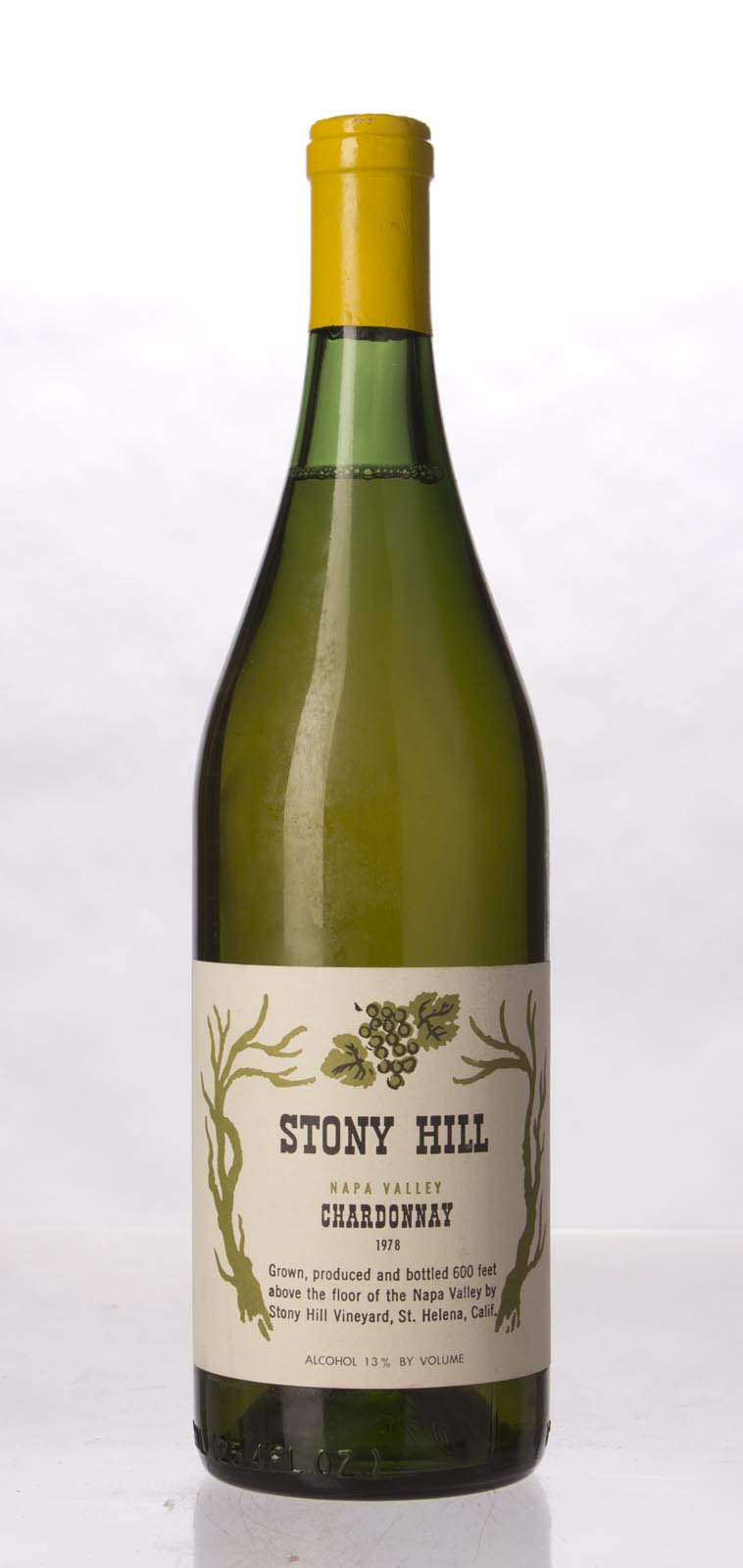 Stony Hill Vineyard Chardonnay Napa Valley 1978, 750mL () from The BPW - Merchants of rare and fine wines.