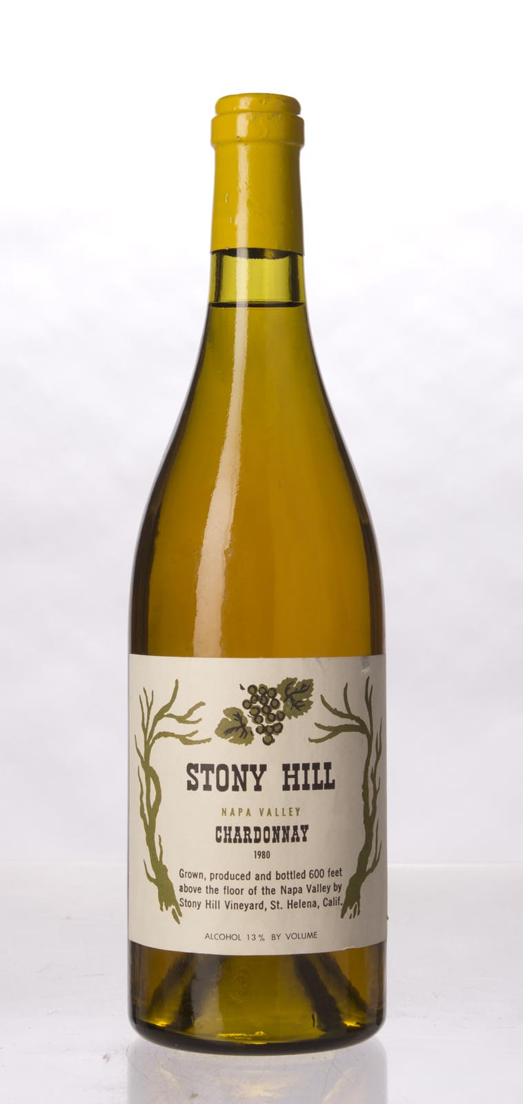 Stony Hill Vineyard Chardonnay Napa Valley 1980, 750mL () from The BPW - Merchants of rare and fine wines.