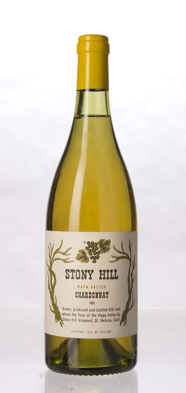 Stony Hill Vineyard Chardonnay Napa Valley 1981, 750mL () from The BPW - Merchants of rare and fine wines.