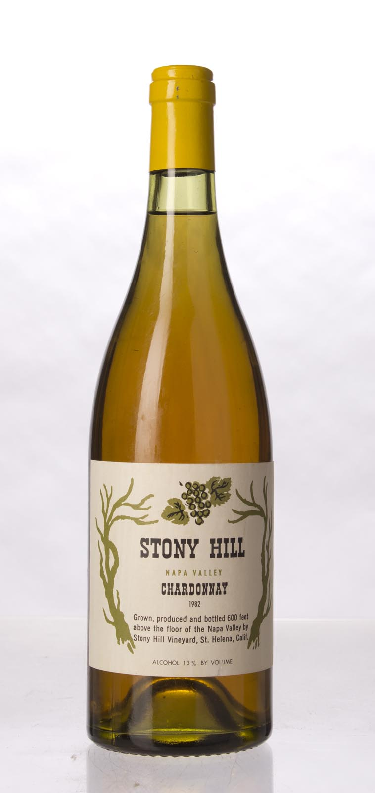 Stony Hill Vineyard Chardonnay Napa Valley 1982, 750mL () from The BPW - Merchants of rare and fine wines.