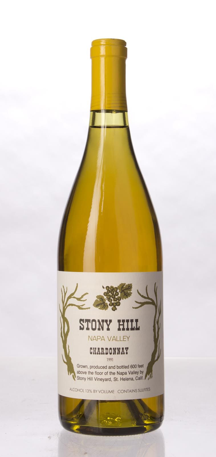 Stony Hill Vineyard Chardonnay Napa Valley 1991, 750mL (WS88) from The BPW - Merchants of rare and fine wines.