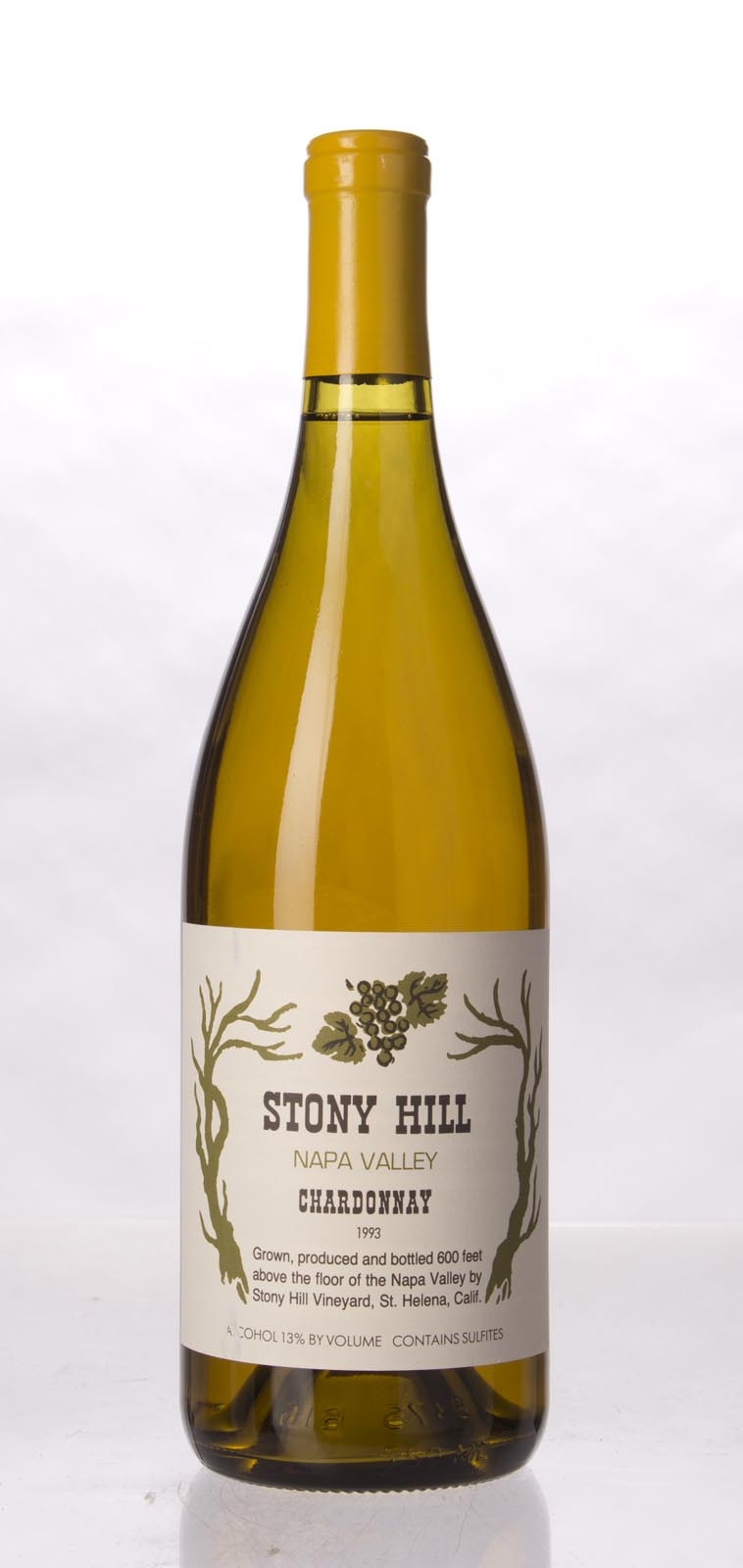 Stony Hill Vineyard Chardonnay Napa Valley 1993, 750mL () from The BPW - Merchants of rare and fine wines.