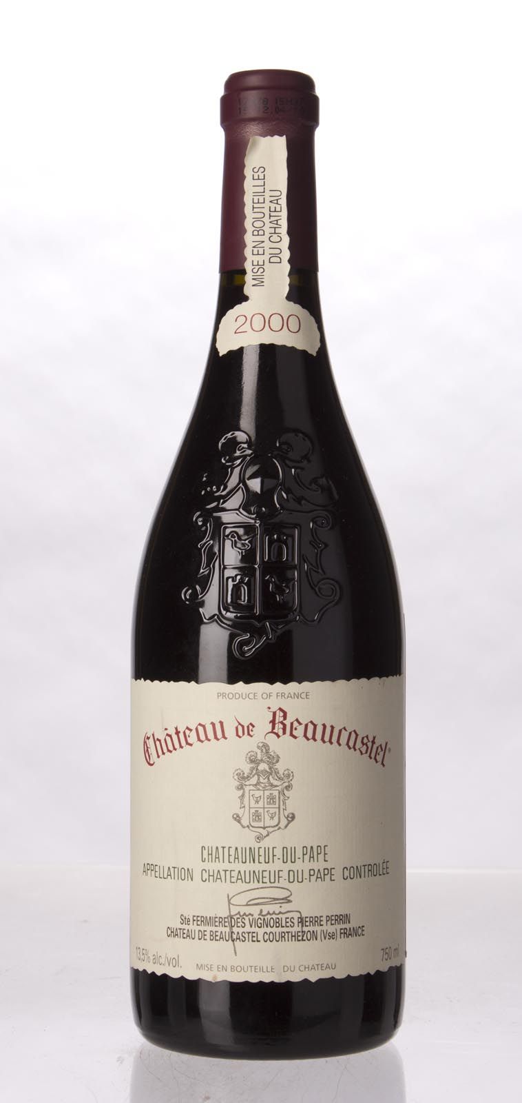 Chateau Beaucastel Chateauneuf du Pape 2000, 750mL (WA94, ST93) from The BPW - Merchants of rare and fine wines.